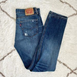 Levi's Distressed Mid Rise Jeans